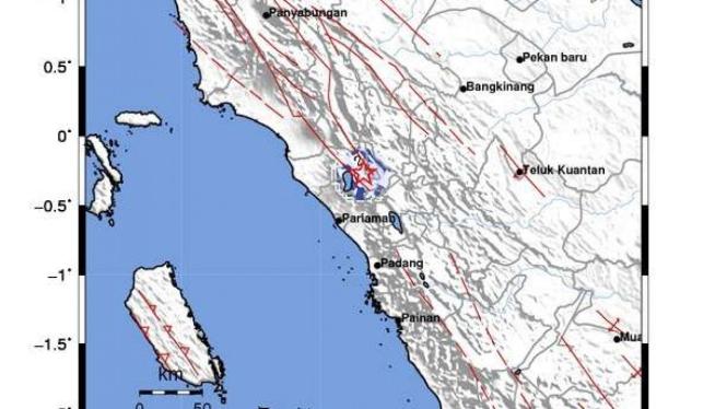 Gempa bumi magnitudo 3,4 guncang Kota Bukittinggi, Sumatera Barat.