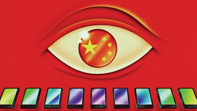Ilustrasi sensor internet di China.