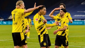 Pemain Borussia Dortmund merayakan gol