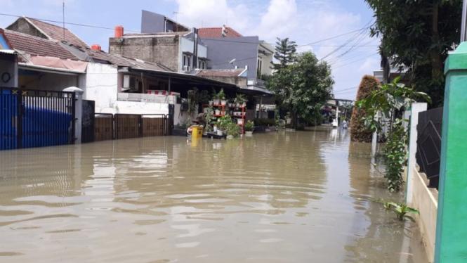 Banjir di Pasar Kemis Kota Tangerang