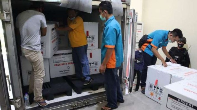 1 juta vaksin tiba di Jawa Tengah, Minggu, 21 Februari 2021.