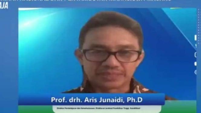 Direktur Pembelajaran dan Kemahasiswaan (Belmawa) Dikrektorat Jenderal Pendidikan Tinggi Kemdikbud Aris Junaidi