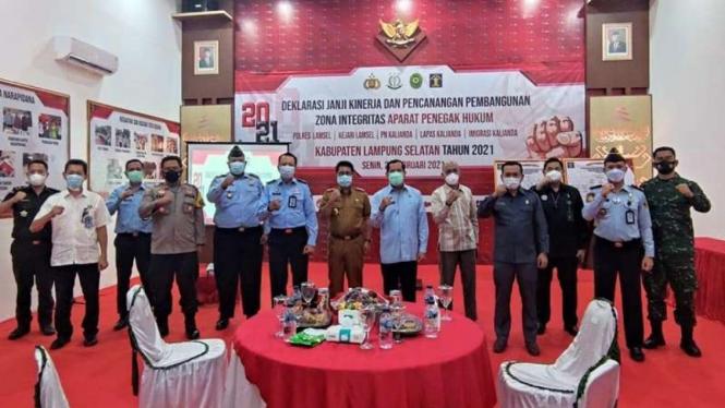 Aparat Penegak Hukum Lampung Selatan deklarasi janji kinerja dan integritas