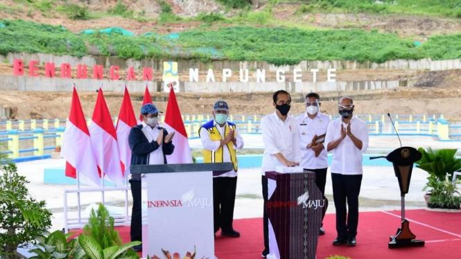 Presiden Jokowi resmikan bendungan Napun Gete di NTT