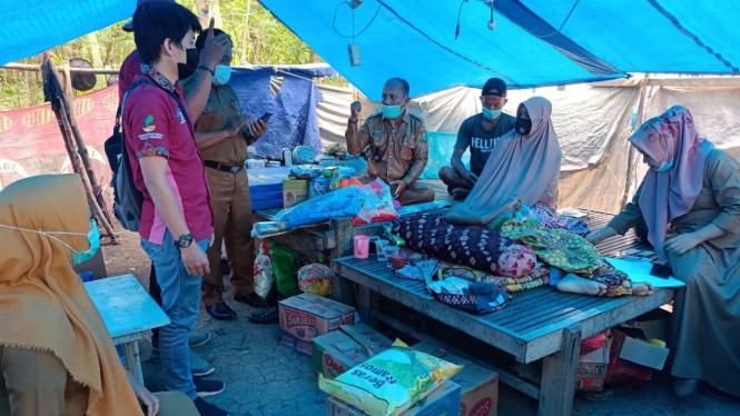 Bantuan dari Kemensos untuk korban gempa Majene.