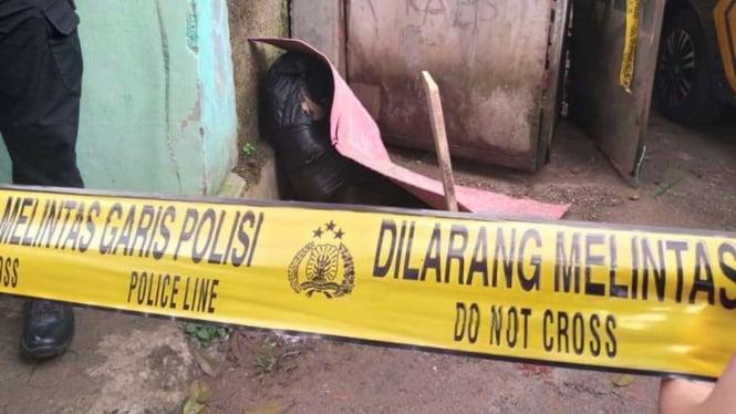 Penemuan mayat perempuan di dalam kantong plastik hitam di Bogor