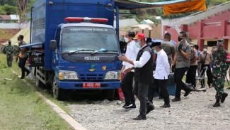 Kemensos salurkan santunan untuk ahli waris korban gempa di Sulawesi Barat.