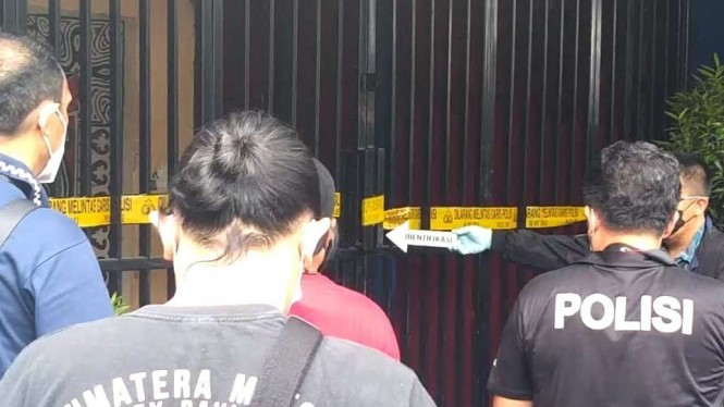 Tim Inafis Polda Metro Jaya mendatangi lokasi penembakan di Cengkareng, Jakbar.