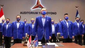 Ketum Partai Demokrat AHY bersama jajaran pengurus partai.