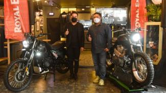 Peluncuran motor custom Royal Enfield di Jakarta