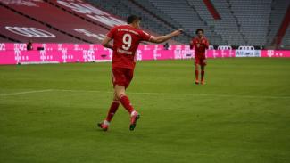 Penyerang Bayern Munich, Robert Lewandowski.