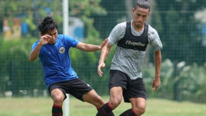 Uji coba internal Timnas Indonesia U-23.