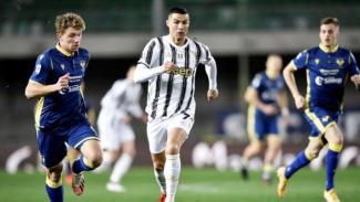 Cristiano Ronaldo saat Hellas Verona vs Juventus.