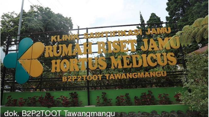 Klinik Saintifikasi Jamu Hortus Medicus di Tawangmangu.