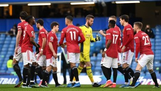 Manchester United saat melawan Chelsea