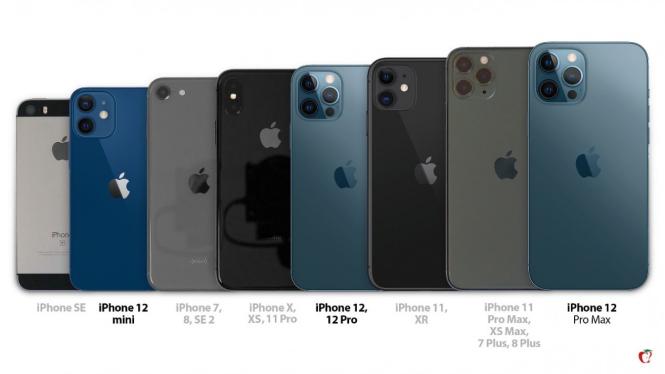 Deretan seri iPhone Apple.