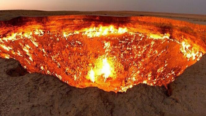 Ilustrasi lubang neraka.