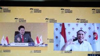 Rapat anggota Komite Olimpiade Indonesia (KOI).