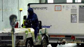 10 juta dosis bahan baku vaksin Sinovac tiba di Bandara Soetta