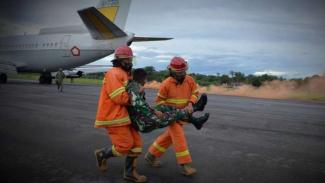 VIVA Militer: Pesawat TNI Boeing pendaratan darurat dalam Sriti Gesit.