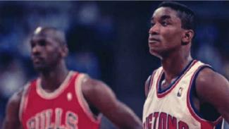 Michael Jordan dan Isiah Thomas