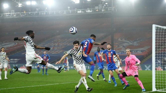 Pertandingan Crystal Palace vs Manchester United di ajang Premier League 2020/21