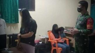 VIVA Militer: Serda Abbas saat amankan muda-mudi.