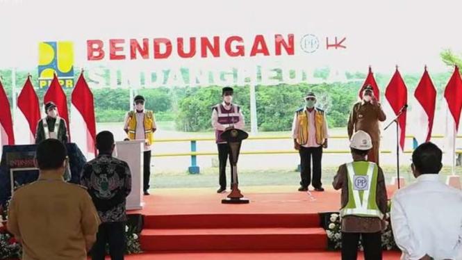 Presiden Jokowi resmikan Bendungan Sindang Heula Banten