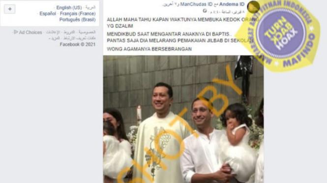 Mendikbud Nadiem Makarim (kanan).