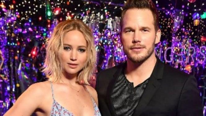 Jennifer Lawrence dengan Chris Pratt