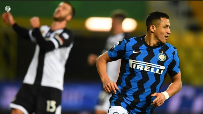 Striker Inter Milan, Alexis Sanchez.