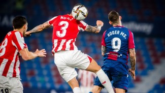 Laga Levante vs Athletic Bilbao di leg kedua semifinal Copa del Rey 2020/21.