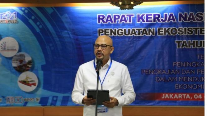 Kepala BPPT, Hammam Riza membuka Rakernas BPPT 2021
