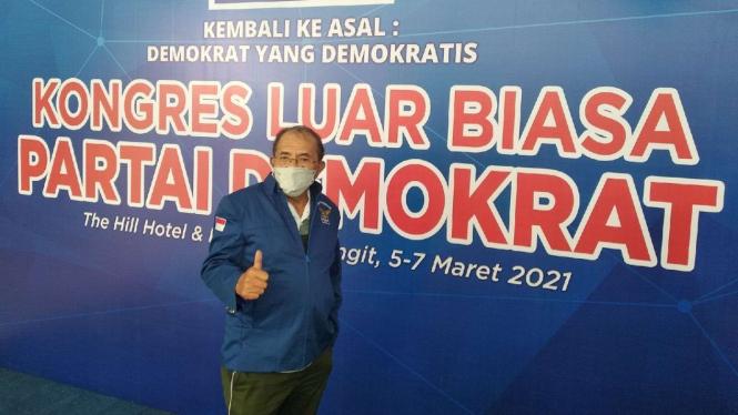 Max Sopacua di Arena KLB Partai Demokrat di Sibolangit, Sumatera Utara