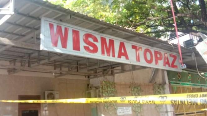 Wisma Topaz lokasi ditemukannya selebgram Makassar tewas