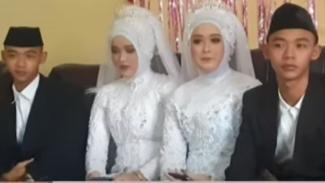 Pasangan kembar menikah
