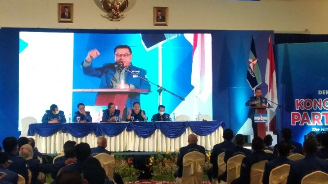 Moeldoko saat KLB Demokrat di Sibolangit, Deli Serdang, Sumut.