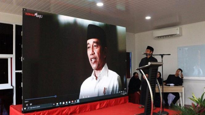 Ucapan Presiden Jokowi melalui video