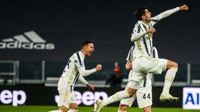 Selebrasi Alvaro Morata di laga Juventus vs Lazio