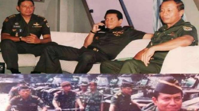 Foto jadul SBY masih Kolonel dan Moeldoko Mayor
