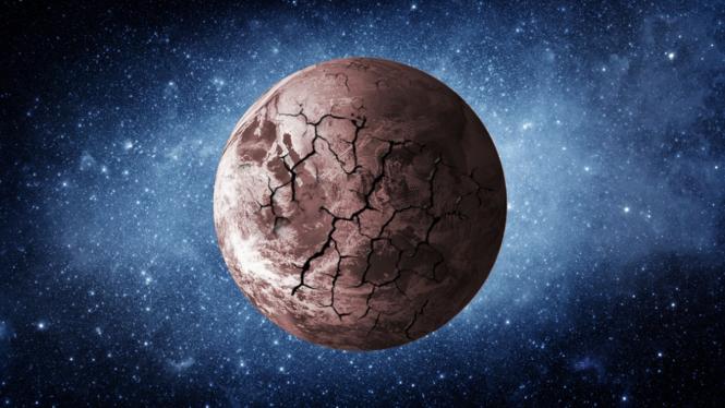 Ilustrasi Bumi tanpa oksigen.