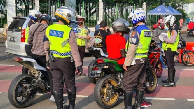 Razia knalpot bising di Jakarta