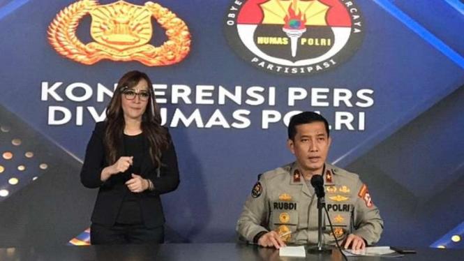 Kepala Biro Penerangan Masyarakat Divisi Humas Polri Brigjen Rusdi Hartono