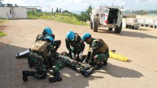 VIVA Militer: Personel TNI Satgas Indobat XXIII-O UNIFIL mengalami kecelakaan