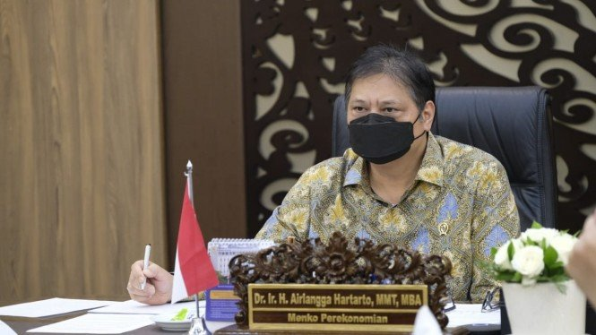 Menko Perekonomian dan Ketua KPC PEN, Airlangga Hartarto