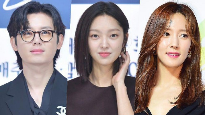 Para bintang drama Korea River Where the Moon Rises.