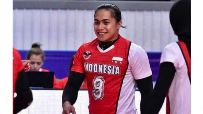 Aprilia Manganang saat berseragam timnas Indonesia