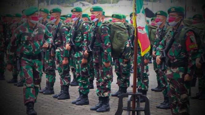 VIVA Militer: Pasukan 3 batalyon infanteri tiba di Papua.