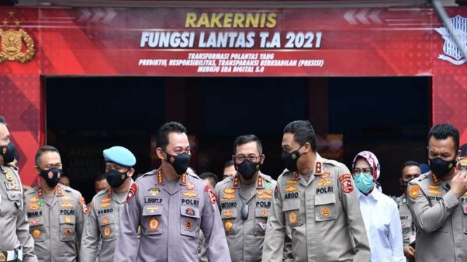 Kapolri Jenderal Listyo Sigit Prabowo menghadiri rakernis Korlantas