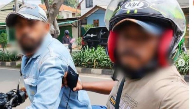 Foto viral mata elang dilaporkan pukuli korban